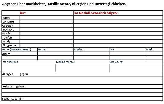 Großartig Notfallformular F R Medizinische Formulare Fotos ...